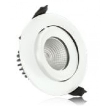 Integral Led Inbouwspot Wit Fire 9W 4000K 680L Wentel en Dimbaar gatmaat 92mm buitenmaat 100mm 36graden IP65 ILDLFR92C008